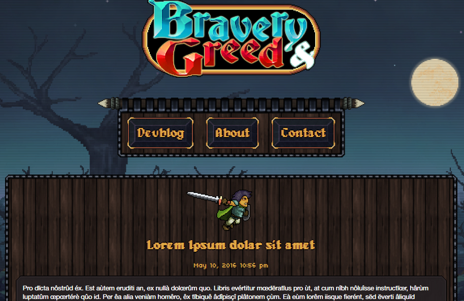 Bravery and Greed website